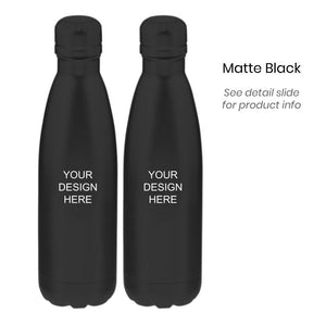 Custom Steel Water Bottle (2x), checkouts of 60-120 gifts