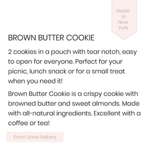 Unna Bakery, Brown Butter Cookies