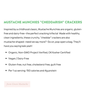 Mustache Munchies, Cheddarish Crackers
