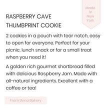 Unna Bakery, Raspberry Cave Cookies