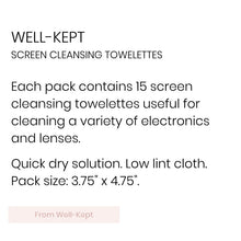 Well-Kept, Screen Cleaning Towelettes