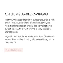 Nuts + Nuts, Chili Lime Leaves Cashews