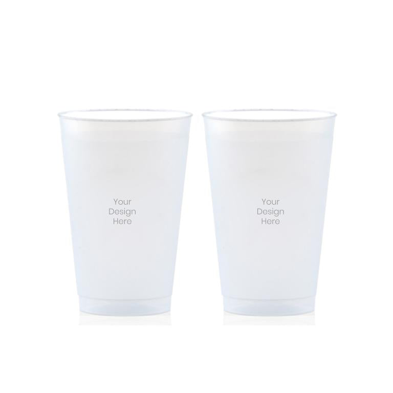 Custom Frosted Cups, 2x - 12 oz