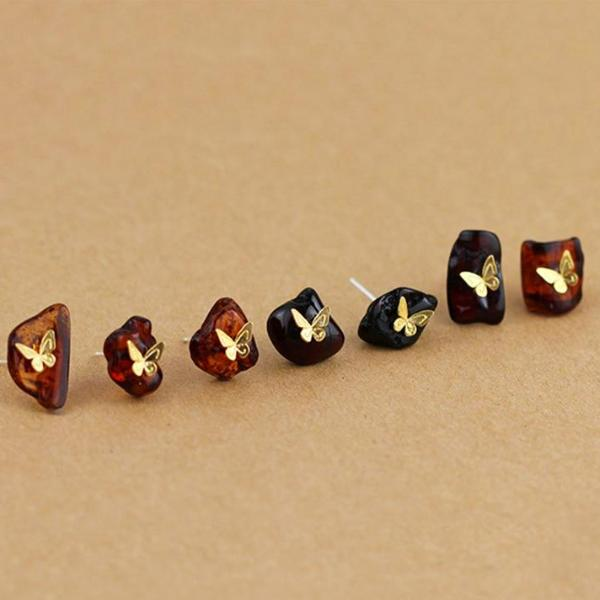 Butterflies on The Rocks Stud Earrings - LUSTROUSOLOGY