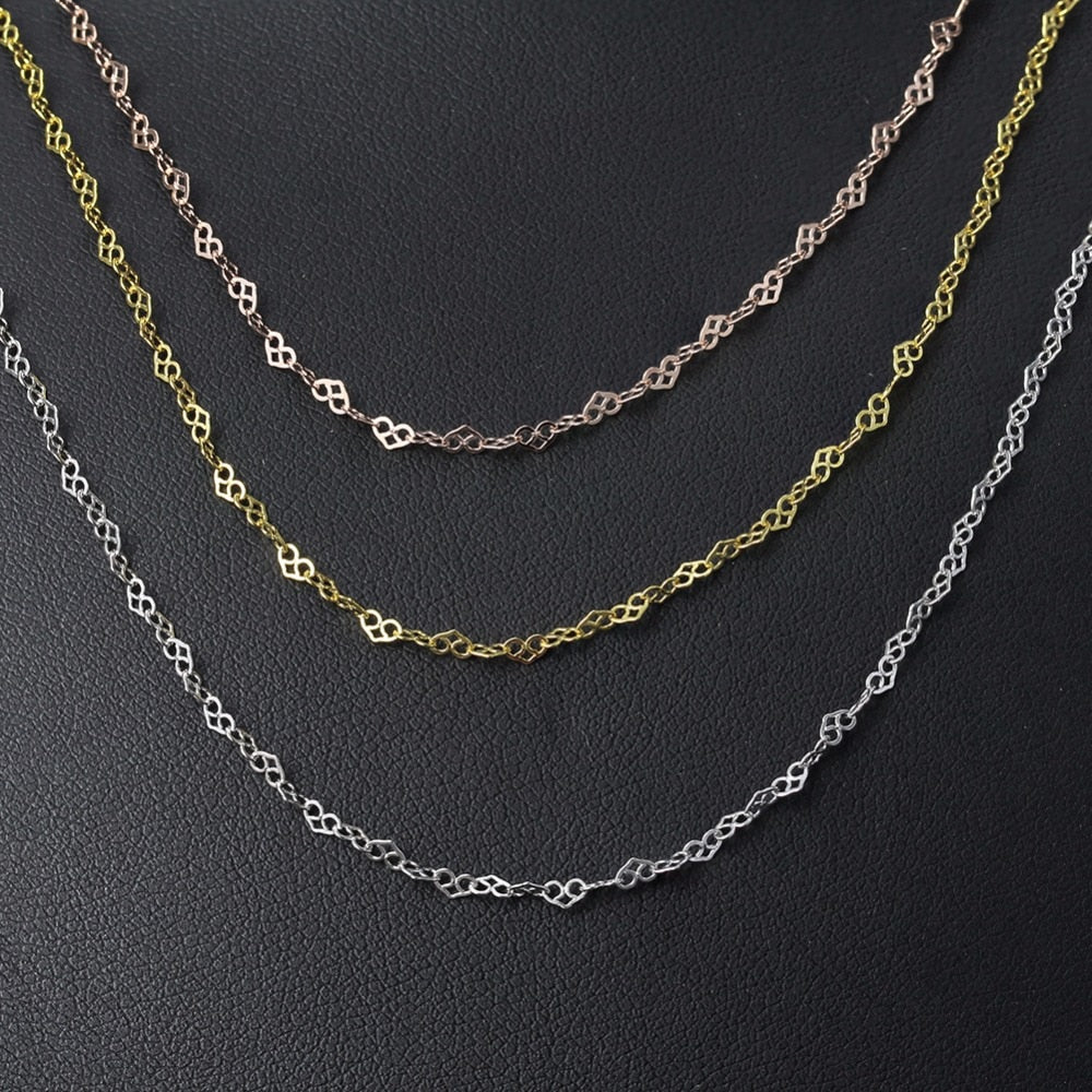 Heart Shape Necklace Chain - LUSTROUSOLOGY