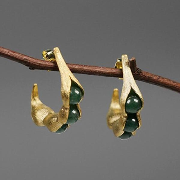 Pea Pods Drop Earrings