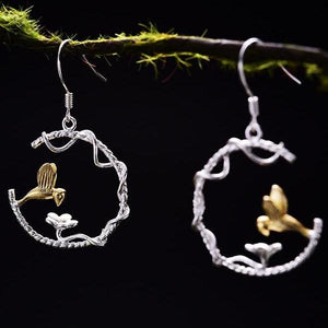 The Lovely Birdie Drop Earrings - LUSTROUSOLOGY