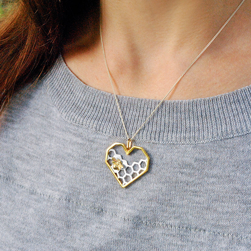 Honeycomb Guards Heart Shape Pendant
