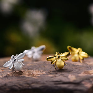 Honeybee Stud Earrings - LUSTROUSOLOGY