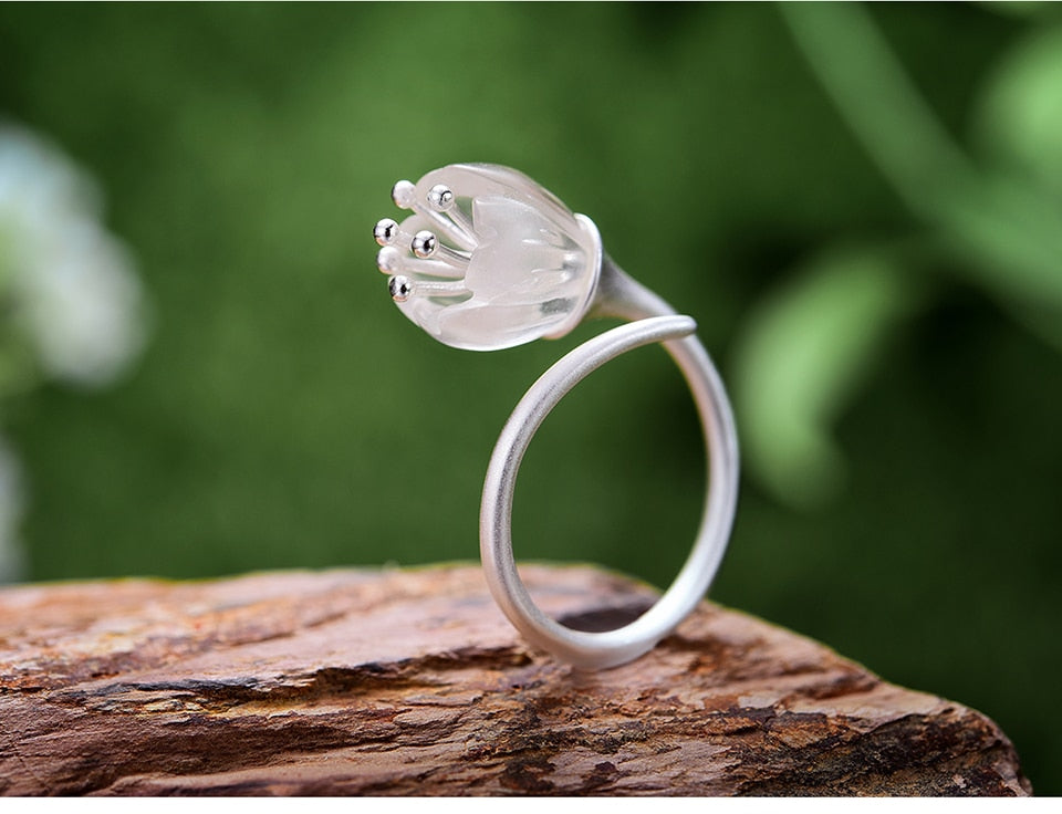 Lily of The Valley Adjustable Ring - LUSTROUSOLOGY