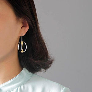 Zen Buddhism Drop Earrings - LUSTROUSOLOGY