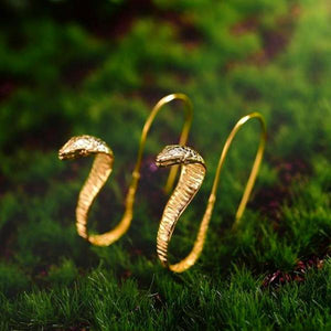 Vintage Special Snake Drop Earrings - LUSTROUSOLOGY