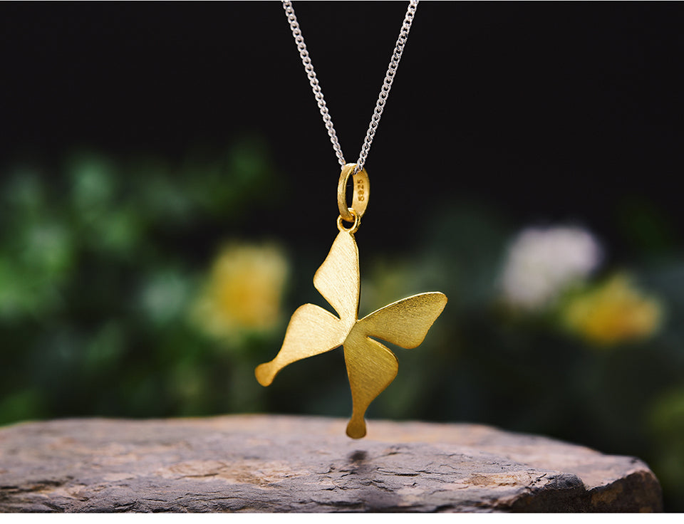 Flying Butterfly Pendant - LUSTROUSOLOGY