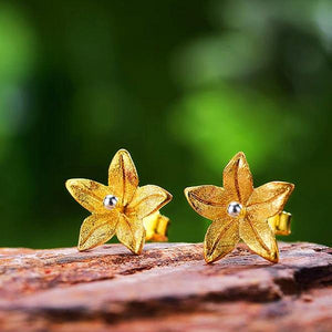 Fresh Blooming Flower Stud Earrings - LUSTROUSOLOGY