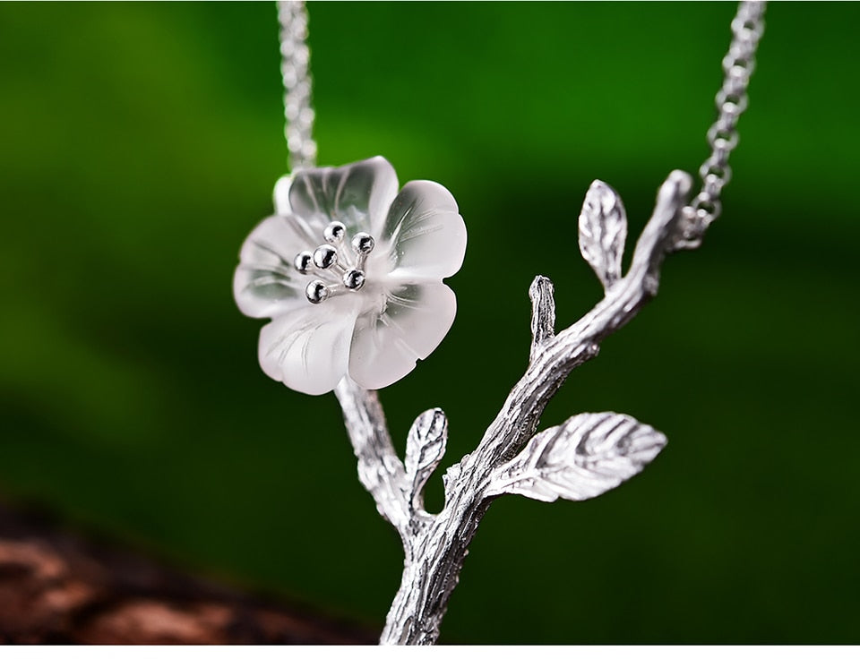 Blooming Flower in the Rain Pendant + Necklace - LUSTROUSOLOGY