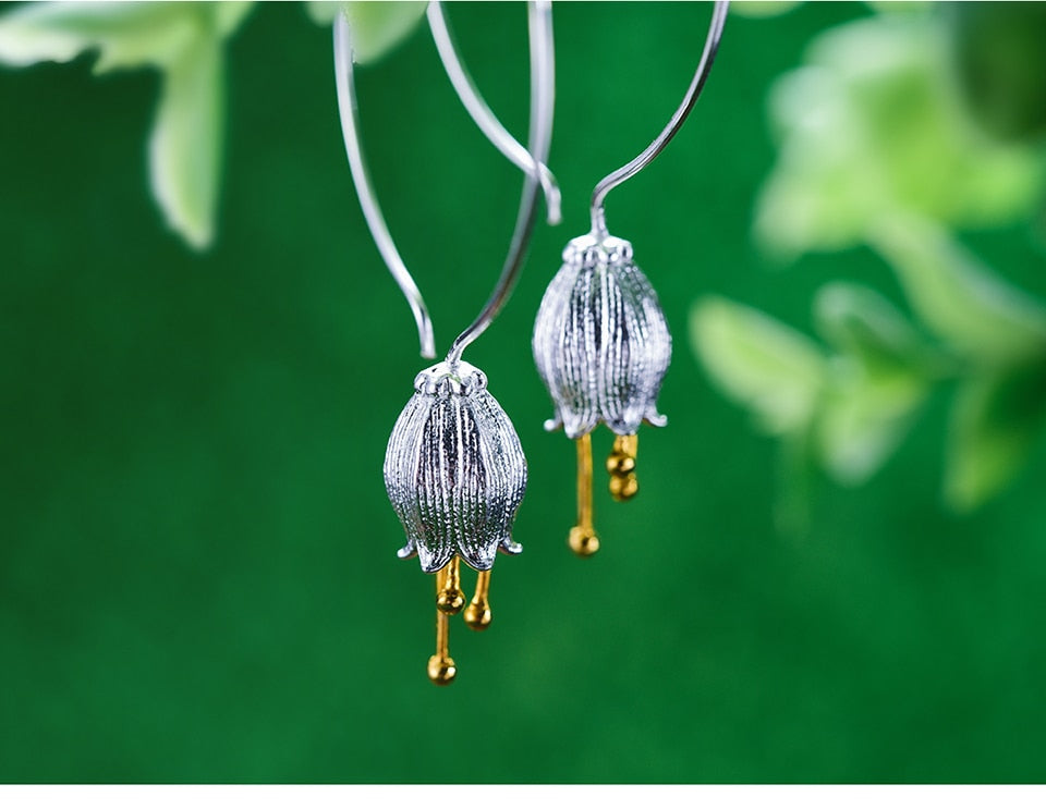 Fresh Bell Flower Dangle Earrings - LUSTROUSOLOGY