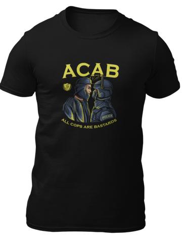 "T-Shirt ""All Cops Are Bastards"""