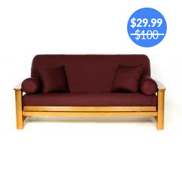 Burgundy Futon Cover