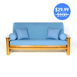 Baby Blue Futon Cover
