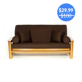 Brown Futon Cover