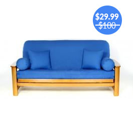 Cobalt Royal Blue Futon Cover