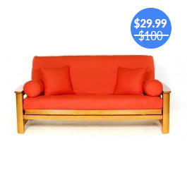 Orange Futon Cover