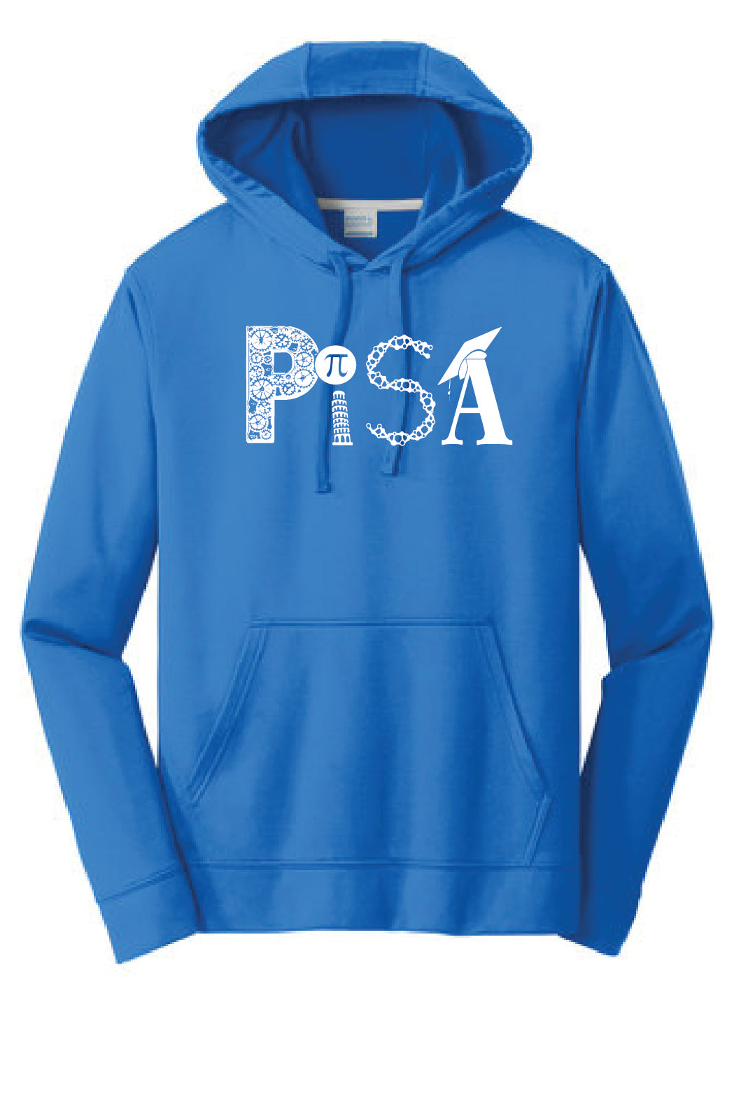Performance Hood Screen Printed- PISA- Royal Blue