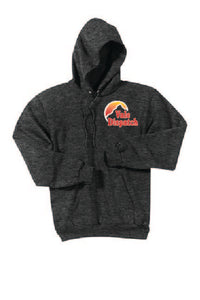 Vale Dispatch - Port & Company® Essential Fleece Pullover Hooded Sweatshirt; Dark Heather Grey