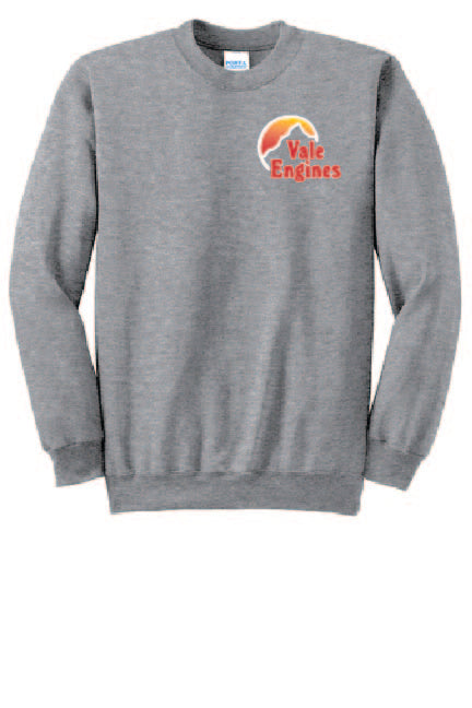 Vale Engines - Port & Company® Essential Fleece Crewneck Sweatshirt; Athletic Heather