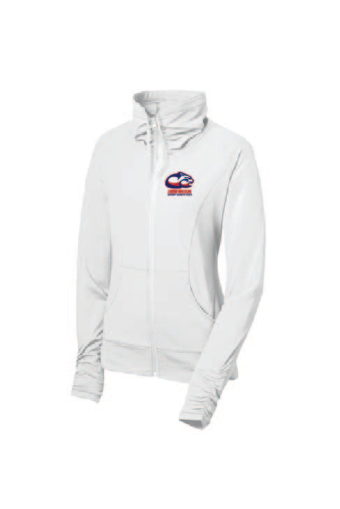Sport-Tek® Ladies Sport-Wick® Stretch Full-Zip Jacket (White)