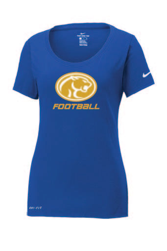 Nike Ladies Dri-FIT Cotton/Poly Scoop Neck Te