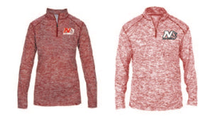 Badger Ladies/Men Blended 1/4 zip Jacket