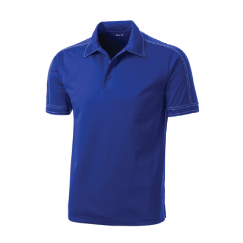 Pi STEM | Contrast Stitch Polo | Royal