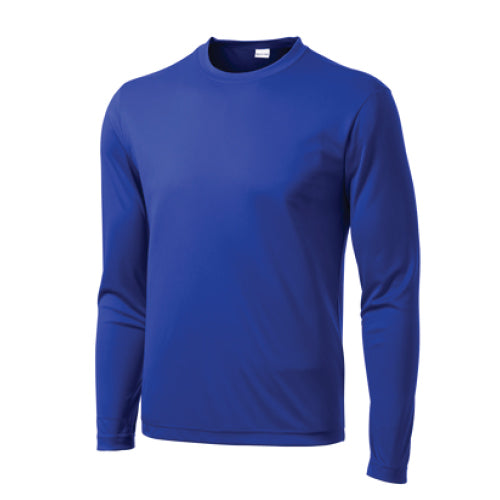 Pi STEM | Long Sleve Performance T-shirt | Royal