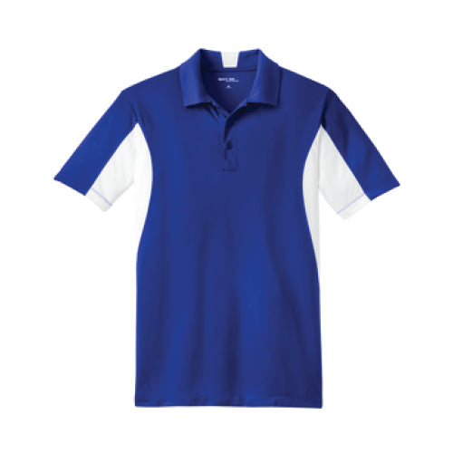 Pi STEM | Side-blocked Polo | Royal/White