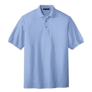 Pi STEM | Silk Touch Polo | Light Blue
