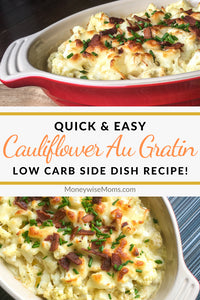 This recipe for cauliflower au gratin is a delicious and simple low carb recipe