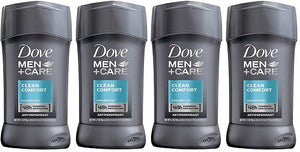 Dove Men+Care Antiperspirant Deodorant Stick, Clean Comfort (Pack of 4)