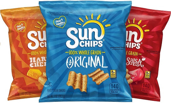 SunChips Multigrain Chips Variety Pack, Pack of 40