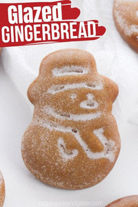 These delicious gingerbread cookies are so cute, they look like they came from a package! Easy Glazed Gingerbread Cookies with a pretty vanilla glaze are an essential addition to your Christmas baking this year!