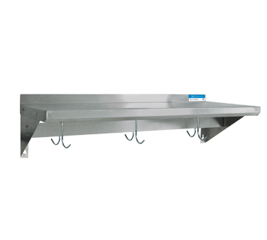 "BK Resources Overshelf 24""W x 12""D Stainless Steel"