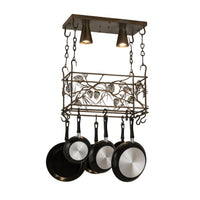 "24""L Whispering Pines Pot Rack Model 82756"