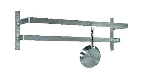"Tarrison WPR60 Stainless Steel Wall Mount Pot Rack with 10 Hooks, 60"" Length x 12"" Height x 10-1/2"" Depth"