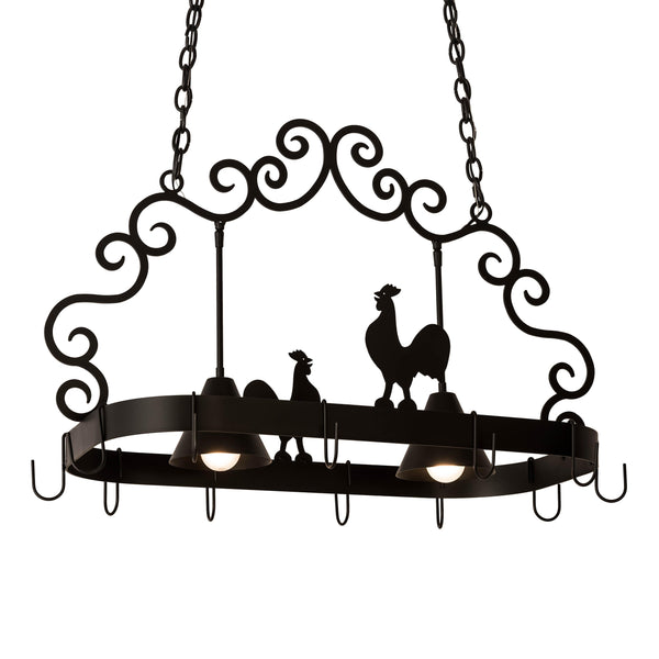 "32"" Long Poulet 2 Light Pot Rack Model 199553"