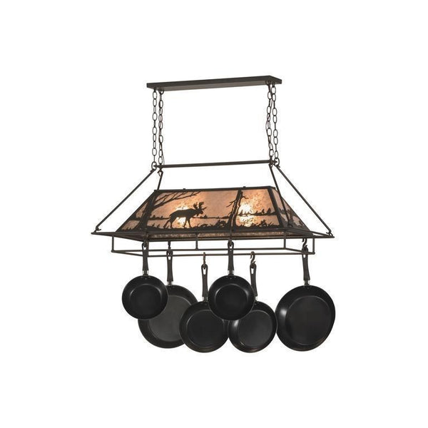 "39""L Moose at Lake Pot Rack Model 152951"