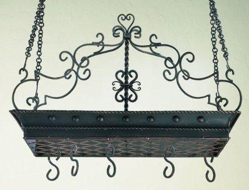 Twisted Iron Pot Rack