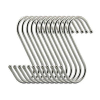 S Hooks 3 inch S Shaped Utility Hooks, Topick 30 Pack Hanging Hooks Stainless Steel Metal Hanger Heavy Duty Hooks, Storage Holders for Kitchen, Work Shop, Bathroom, Plants, Office, Garden (3in Bold)