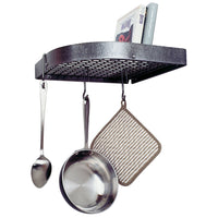Enclume Premier Large 16-Inch Corner Pot Rack, Hammered Steel