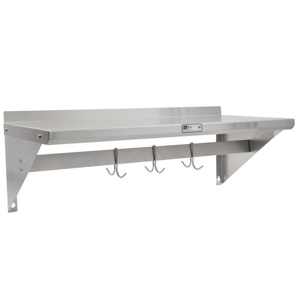 "John Boos BHS1636PR Wall Shelf - 1 1/2"" Riser - With Pot Rack - 36"" X 16"""
