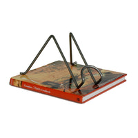 Freestanding Book Holder Hammered Steel - Enclume Design Products